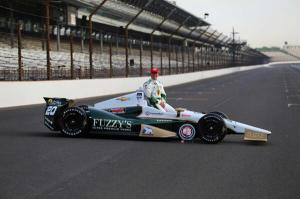 Ed Carpenter wins the pole for the 2014 Indy 500. Photo from Racing Line TV's Twitter.