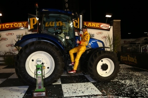 Ryan Hunter-Reay celebrates his win in Iowa. Photo by Chris Jones.