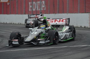 Sebastien Bourdais leads Will Power during qualifying on Saturday. Photo by Chris Owens.  Sebastien Bourdais leads Will Power during qualifying on Saturday. Photo by Chris Owens.