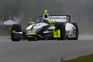 Josef Newgarden makes a qualifying run on Saturday. Photo by Bret Kelley.