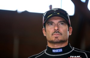Alex Tagliani looks onto practice at Mid Ohio on Friday. Photo by Sarah Glenn/Getty Images North America
