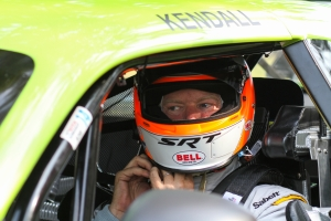 Tommy Kendall prepares for track time at Mid Ohio Sorts Car Course. Photo courtesy of Dodge SRT Racing.